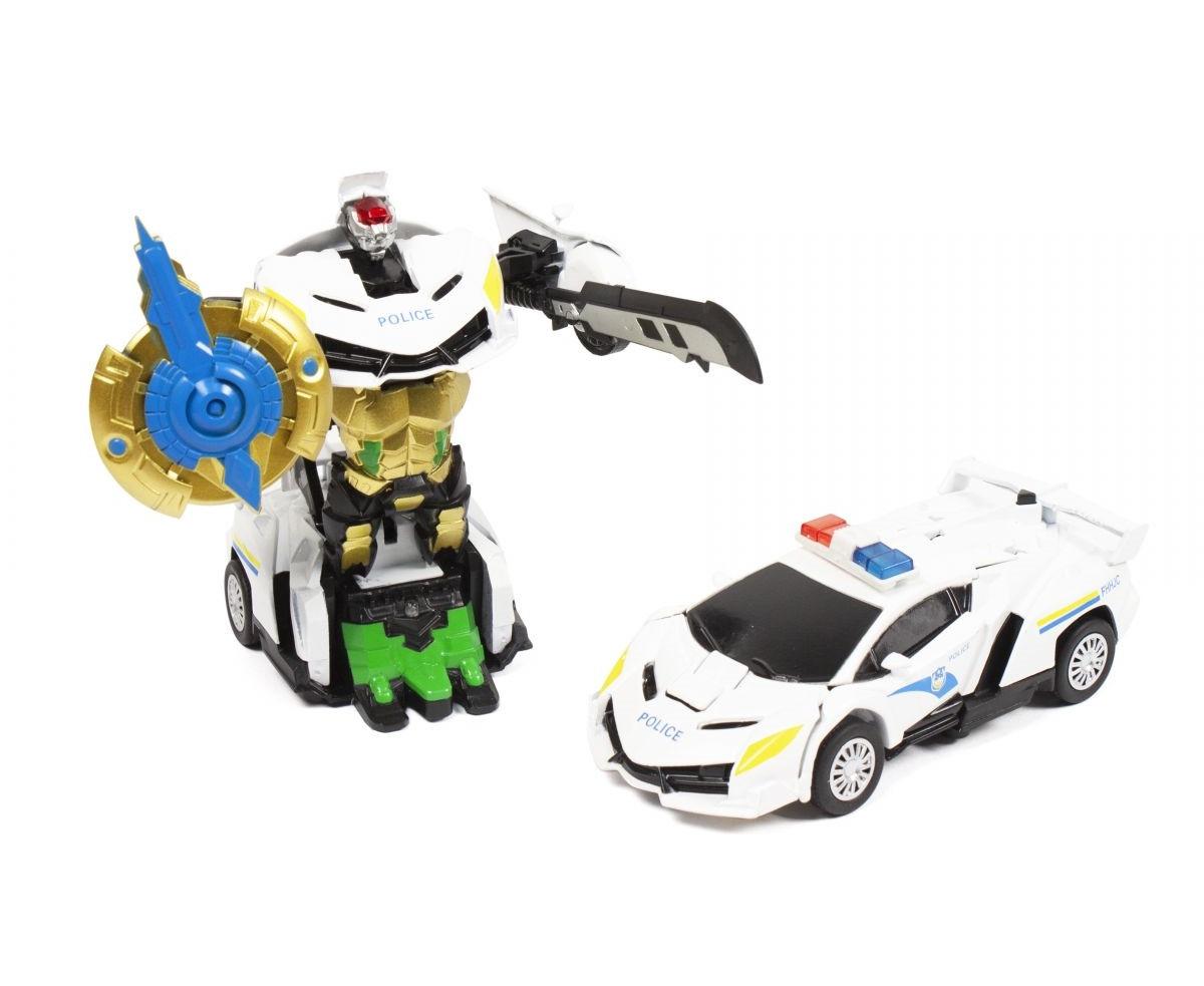 Машинка трансформер Полиция со светом и звуком 350-15