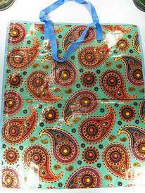 Сумка полипропиленовая, хозяйственная , цветная (55*65*30см) на змейке (12 шт)