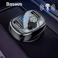 FM трансмиттер модулятор Baseus S-09 T-Typed Bluetooth MP3 Black