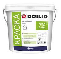 Акриловая интерьерная краска стойкая к дезинфекции Doilid ВД-АК-205 (2.95 кг)
