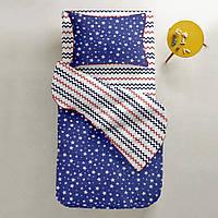 Комплект детского постельного белья STARFALL BLUE /зигзаг сине-красный/