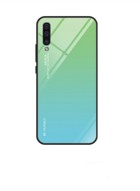 Чехол Gradient для Samsung A70 / A705F Green-Blue
