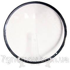 Тарелка стеклянная обеденная белая Белоснежка 33 см