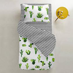 Комплект дитячої постільної білизни GREEN /зигзаг чорно-сірий/