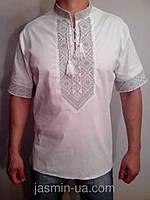 Мужская вышиванка с коротким рукавом , фото 1