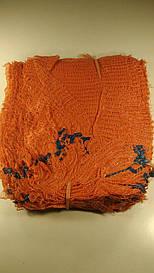 Сетка упаковочная овощная  (р21х31) 3кг оранжевая с ручкой (100 шт)