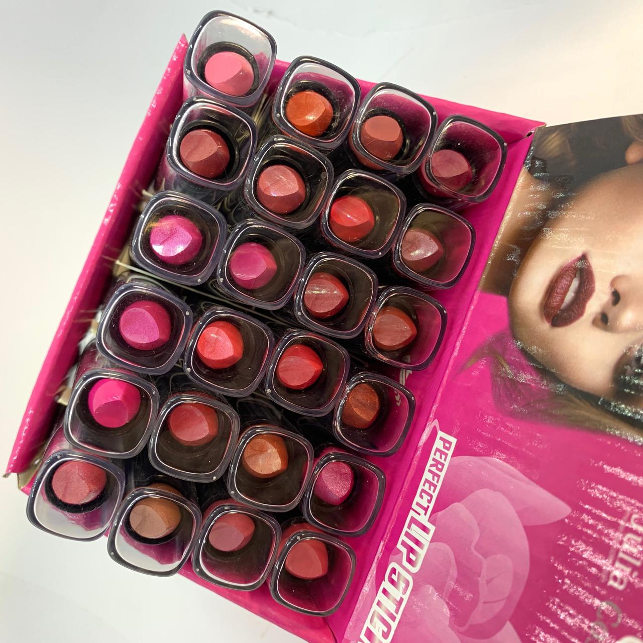 """Помада для губ Julia JC-717 Lipstick #A 24шт """"глянец и перламутр"""""""