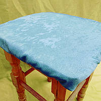 Чехлы на табуреты мрамор однотонный бирюзовый, фото 1