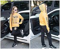 Подростковый спортивный костюм черный на девочку 7 8 9 10 11  лет