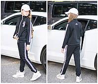 Подростковый спортивный костюм Juventus черный электрик на девочку 7 8 9 10 11  лет