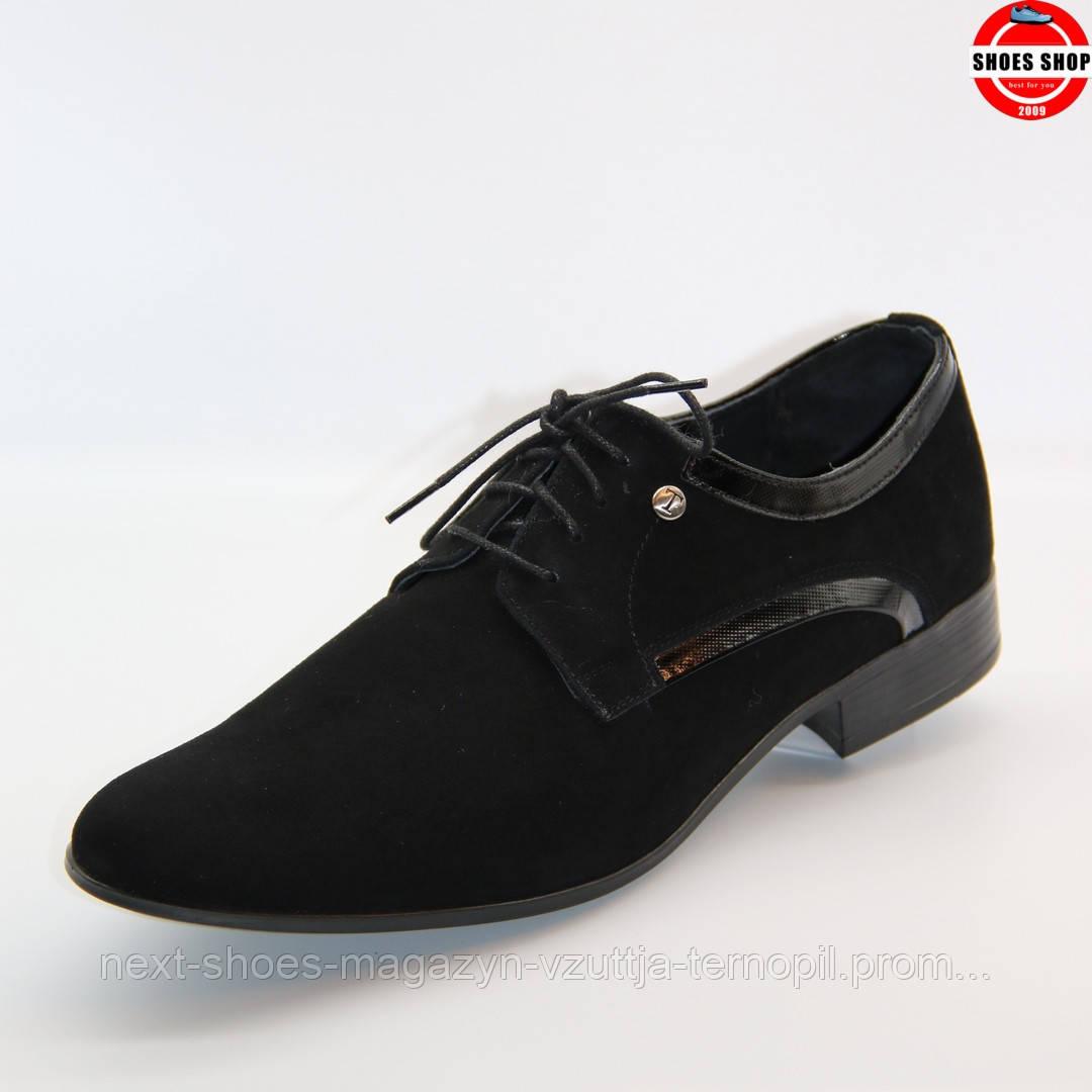 Чоловічі дерби TAPI (Польща) чорного кольору. Дуже елегантні та комфортні. Стиль - Джонні Депп