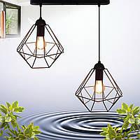 """Подвесной металлический светильник, современный стиль, loft, vintage  """"CLASSIC-2"""" Е27  черный цвет"""