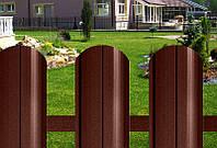 Штакетник металлический коричневый матовый 8017