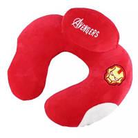 Подушка LSM для путешествий 34х27х14 красная (150-22)