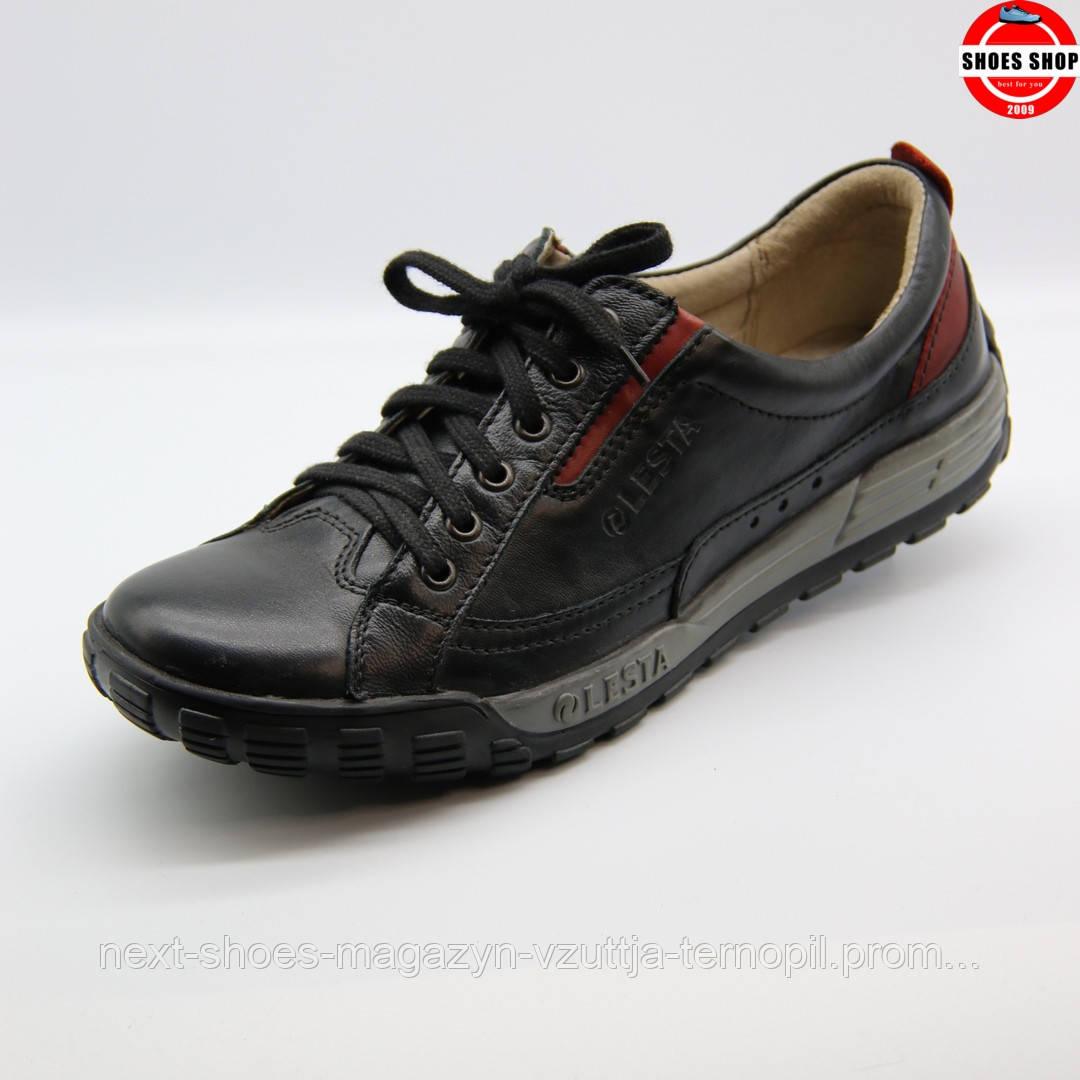 Чоловічі кросівки Lesta (Польща) чорного кольору. Комфортні, для прогулянок . Стиль - Джуд Лоу