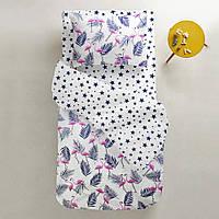 Комплект детского постельного белья FLAMINGO PALM /звезды синие/