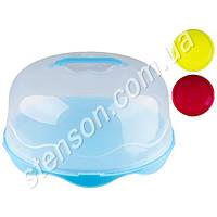 Тортівниця пластик круг с кришкой, R86495