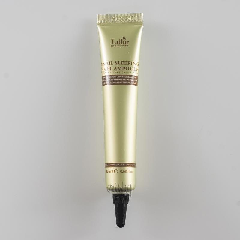 Ночная несмываемая маска-сыворотка для поврежденных волос LADOR Keratin Power Fill up sleeping Clinic Ample