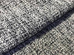 Вискозный трикотаж меланжевый двойное плетение, серый