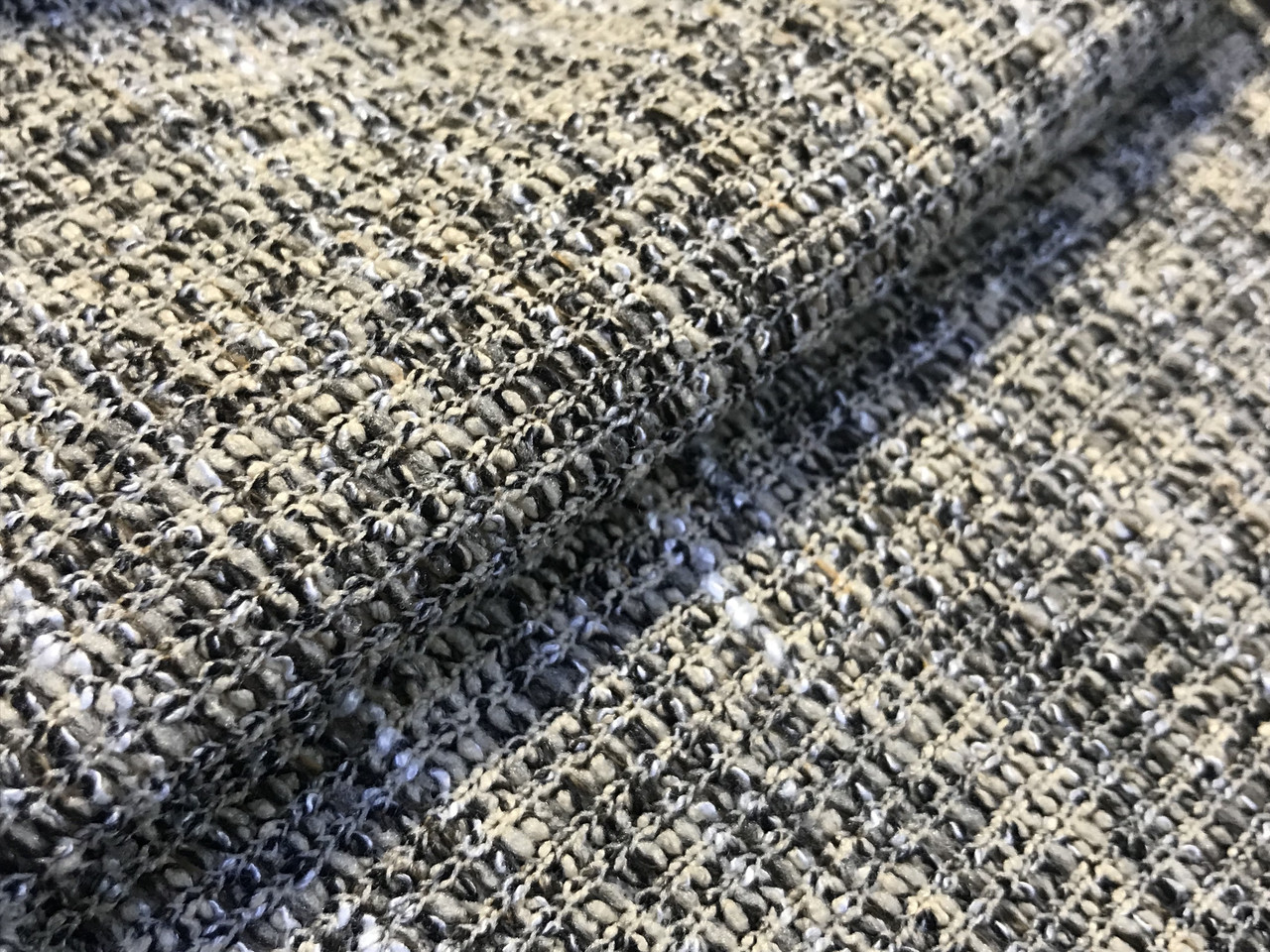 Вискозный трикотаж меланжевый двойное плетение, песочный