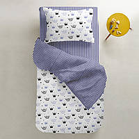 Комплект детского постельного белья CROWN BLUE /полоса синяя/