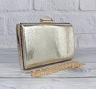 Вечерний клатч Rose Heart 8800 светло-золотистый, сумочка на цепочке, фото 1