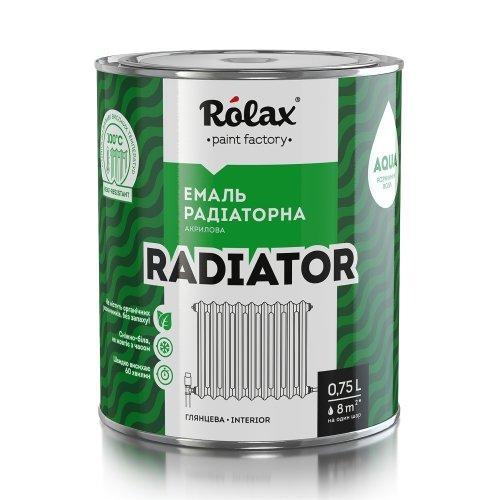 Эмаль акриловая радиаторная «RADIATOR» белая 0,75 л Ролакс