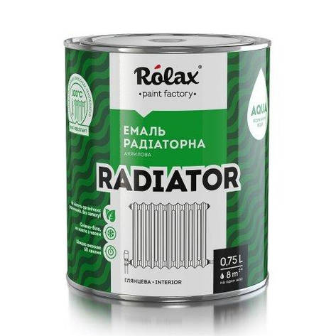 Эмаль акриловая радиаторная «RADIATOR» белая 0,75 л Ролакс, фото 2