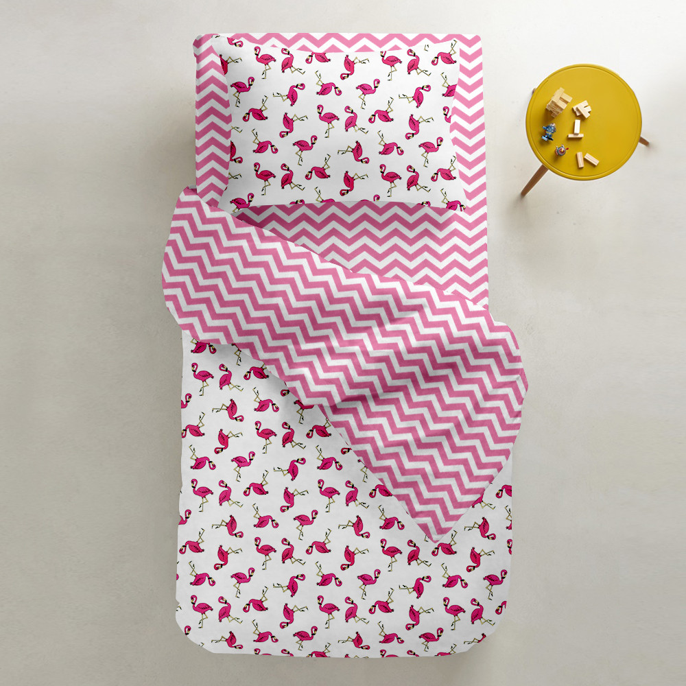 Комплект дитячої постільної білизни FLAMINGO /зигзаг рожевий/