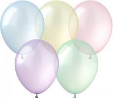 Латексные шары 12''кристалл Kalisan Турция 58 ассорти (30 см), 100 шт