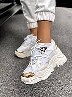 Женские кроссовки AL 42-1 White&Gold