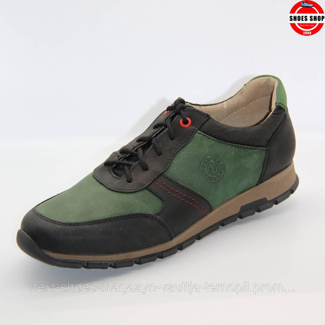 Чоловічі кросівки Lesta (Польща) чорно-зеленого кольору. Дуже зручні та красиві. Стиль - Шевченко Андрій