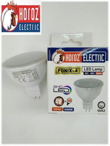 Светодиодная лампа 4W 6400K GU5.3 Horoz