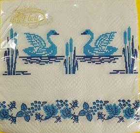 Праздничная салфетка (ЗЗхЗЗ, 20шт) La Fleur  Свадебный рушник (120) (1 пач)