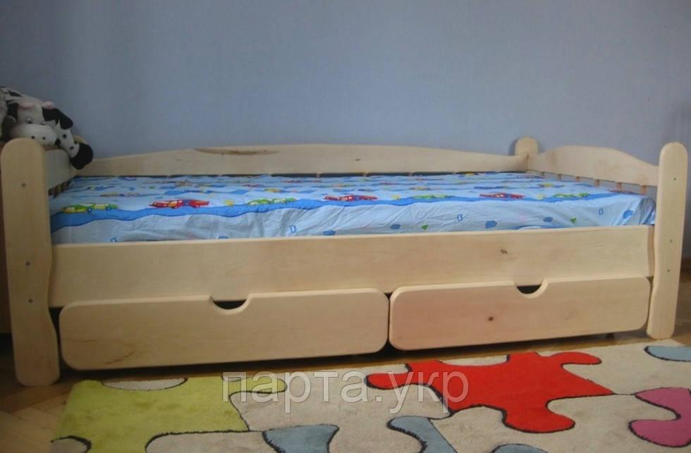 Деревянная кровать Яся (ольха, ясень, дуб)