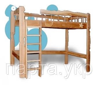 Деревянная кровать чердак (ясень, дуб)