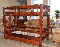 Кровать двухъярусная детская Фрегат (в тоне махонь), фото 1
