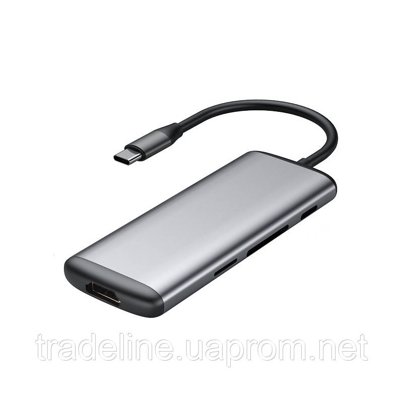 Адаптер Xiaomi Hagibis Type-C to USB 3.0/HDMI Multifunctional Adapter/6 ports/with PD & Card Rea, фото 1