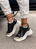 Жіночі кросівки AL 42-2 Black &Gold, фото 1