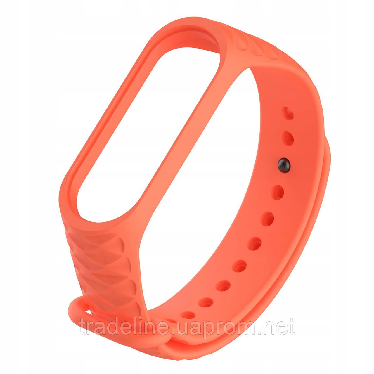 Ремешок Gasta Fluted for Xiaomi Mi Band 3 color Orange