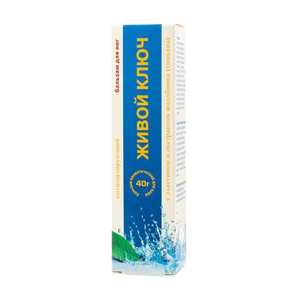 Живой ключ Бальзам для ног оптимизирующий с эластином и экстрактом жадобника(тимьяна) 40г