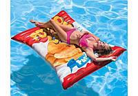 Надувной матрас для взрослых Чипсы размер 178*140 см