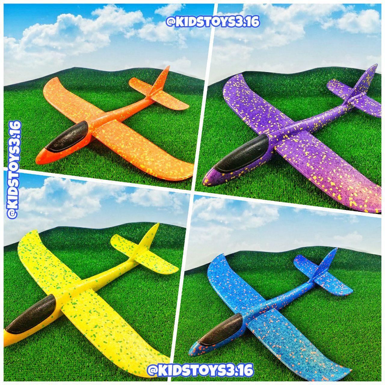 Игрушка пинопластовый Самолет Планер большого размера