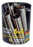 Эмаль-грунт по ржавчине 3 в 1 ТМ Colorina красная  2.5 кг