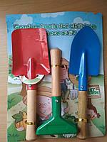 Набор садового инструмента, садовый инвентарь, лопатки грабли