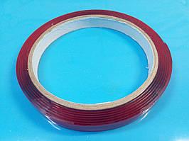 Двосторонній скотч акриловий, товщина 0.8 мм, ширина 6 мм, довжина 2м