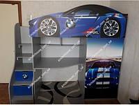 Кровать-чердак для мальчика BMW Бесплатная доставка!