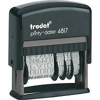 Датер с бухгалтерскими терминами, Trodat 4817, размер шрифта-3,8мм, язык-украинский