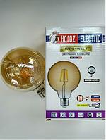 Светодиодная винтажная лампа Filament 6w E27 Rustic Globe-6 Horoz Electric, фото 1