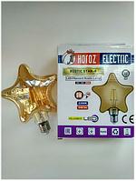 Светодиодная ретро лампа Filament 6w E27 Rustic Star-6 Horoz Electric, фото 1